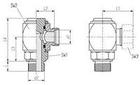 Giratorio macho gas cilíndrico