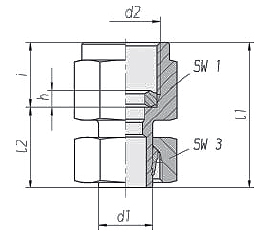 recto orientable hembra GAS manómetro
